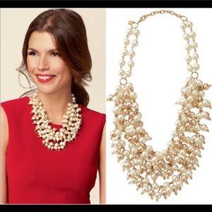 Stella & dot pearl bib necklace